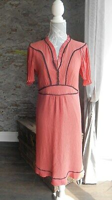 """*Stunning 1940'S Inspired Dress By """"Ghost"""" Size 10/12, 100% Silk Crepe Gorgeous*"""