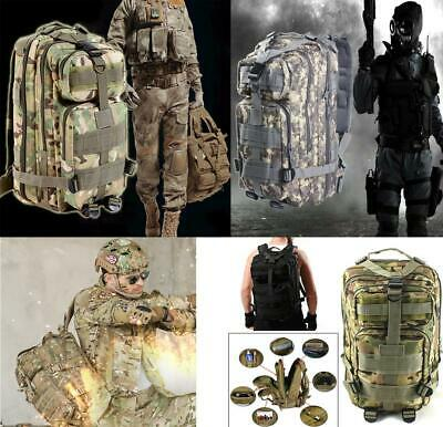 30L 3P Tactical Backpack Military Oxford Sport Bag for Camping Traveling Hiking