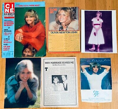 Olivia Newton-John approx 1976-1977 magazine articles clippings cover