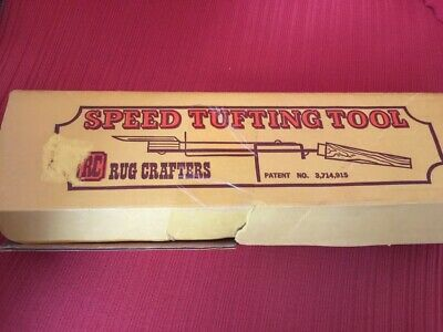 Rug Tufting Tool Set Crafters Speed w/ Box & Instructions Wood Handle