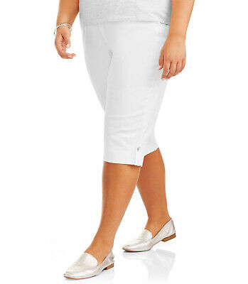 Just My Size Women's Plus-Size Pull-On Bling Tab Capri