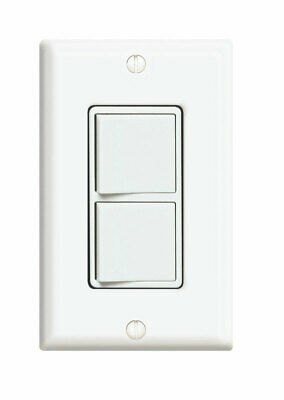 Leviton  Decora  15 amps Rocker  Switch  White  1 pk