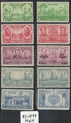 US Stamps 785-794; Army Navy Set of 10, MNH