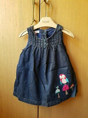 John Lewis Denim Girls Infant Dress. Size 0 – 3 months. Pre-owned
