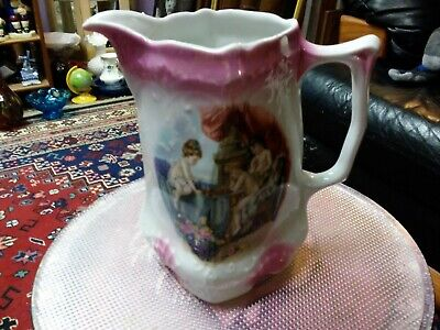 Vintage Victorian Style Porcelain  CHERUB Pitcher Made in GERMANY #41 GORGEOUS!