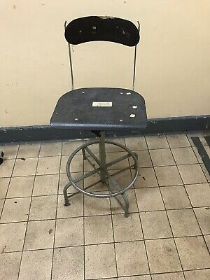 Vintage Machinists Stool/Workshop Swivel Chair Factory Sewing Seat Retro