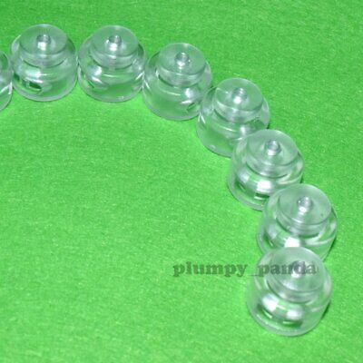 "Clear Buttom (Hole = 3/16"") 2 Holes Round Cordlock Cord Locks Toggle Barrel Bead"