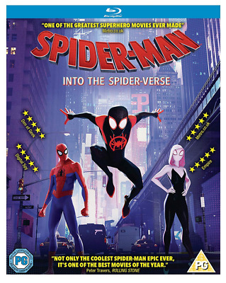 Brand New Spider-man Into the Spider-Verse Blu-ray Disc Region Free