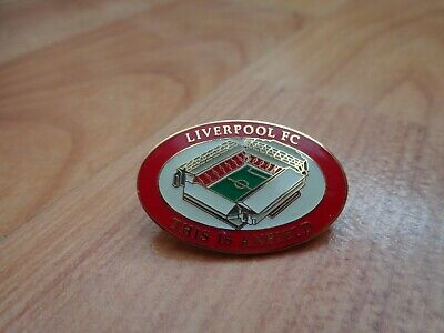 Classic Liverpool Fc 'This Is Anfield' Stadium Football Enamel Lapel Pin Badge