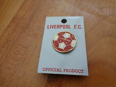 Classic Liverpool Fc Crests On Ball Football Enamel Lapel Pin Badge