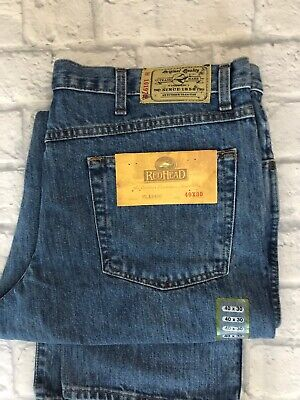 Red Head REDHEAD Jeans Bass Pro Men Size 40 X 30 Classic Fit Stonewashed Denim