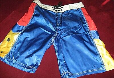 Vintage LAtitude 32 Shiny Board Shorts Swim Trunks Size 34 Men's USA San Diego