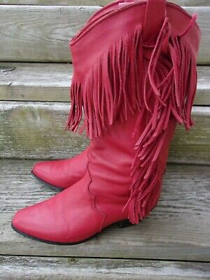 ba7cf7607f2 VINTAGE DINGO WOMAN'S red , fully studded western, cowgirl boots New ...