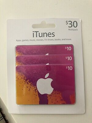 Apple App Store & iTunes $30 Physical Gift Cards