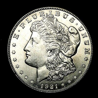 1921 S ~**ABOUT UNCIRCULATED AU**~ Silver Morgan Dollar Rare US Old Coin! #P27