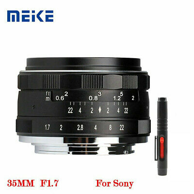 Meike 35mm F1.7 Fixed Manual Focus Lens for Sony A5000/A5100/A6000/A6100/A6300