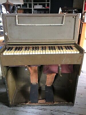 Antique Estey Wwi Wwii  Portable Field Folding Pump Organ Rare!