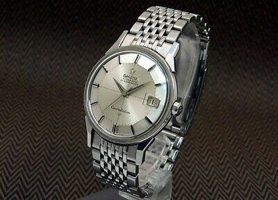 Omega Constellation Chronometer Vintage Silver Date 12-Angle SS Automatic Watch