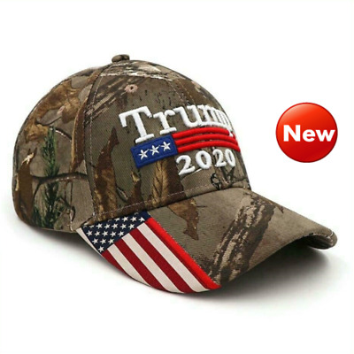 2019 Donald Trump 2020 Cap USA Flag Camouflage Baseball Cap Hat Make Great New
