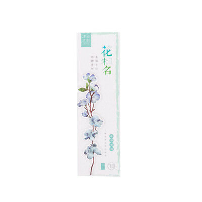 30X Plants Flowers Paper Bookmark Page Holders Marker Message Card School Office