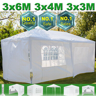 Waterproof Outdoor Garden Gazebo Party Tent Marquee Awning Canopy Sun Shelter UK