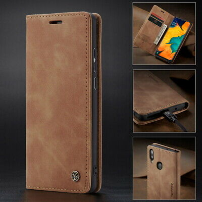 For Samsung Galaxy S9 S10 Plus A70 A50 Flip Leather Card Wallet Phone Case Cover