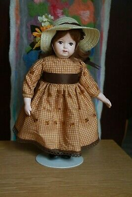 """13"""" Composition Character Artist Doll + Cloth Body & painted features JMS mark?"""