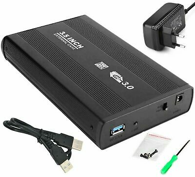 Case Box Esterno Per Hard Disk Hd da 3,5 Sata Con Usb 3.0