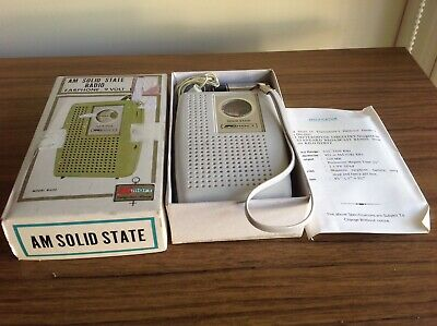 RETRO COLLECTABLE ORIGINAL TRANSISTER RADIO SOLID STATE AM KMART 1970's BNIB