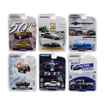New Greenlight Anniversary Collection Series 7, Set of 6 Cars 1/64 Diecast Model