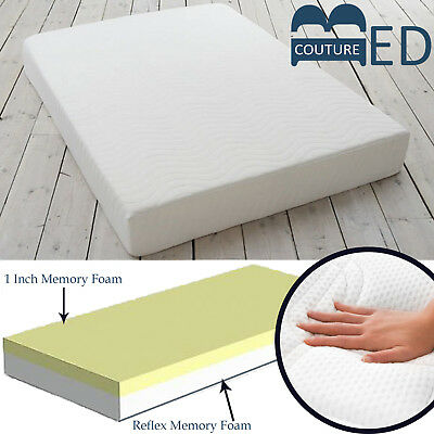 Memory Reflex Foam Mattress Washable Cool Touch Cover 2FT6 3FT 4FT 4FT6 5FT 6FT