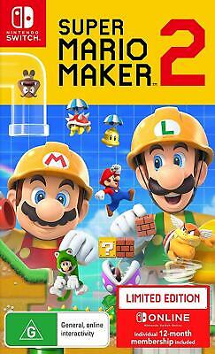 Super Mario Maker 2 Nintendo Switch Limited Edition Family Kids Creativity Game