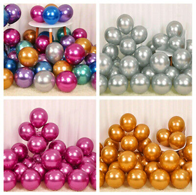 "20pcs 12""  Metallic Pearl Chrome Latex Balloons Wedding Birthday Party Ballons"