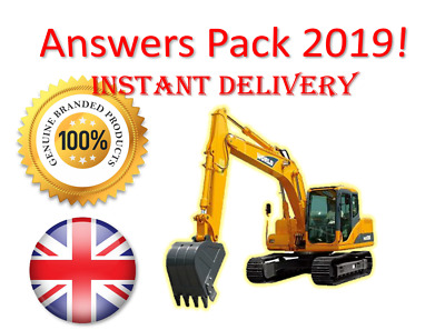 2019 CPCS A59 Excavator 360 Above 10 Tonnes Theory Test Answers | BOOK + PDF