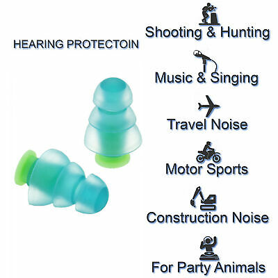 Noise Cancelling Earplugs Concerts Musicians Motorcycles Protezione dell'udito
