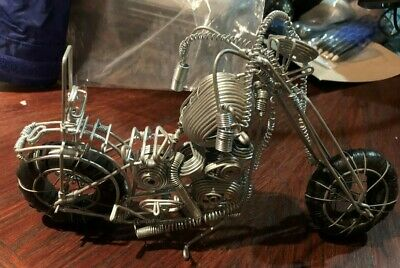 "Wire Art -- Motorcycle -- Really great for the Motorcycle Enthusiast 9"" L x 6"" H"
