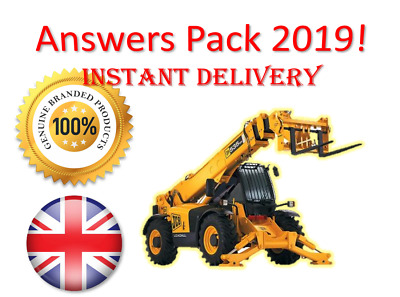 2019 CPCS A17 Telescopic Handler Theory Test Answers Pack | BOOK + PDF