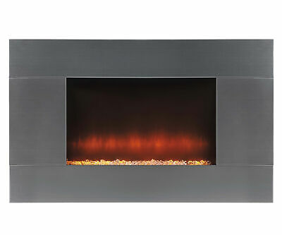 Beldray EH1315 Pittsburgh Electric Wall Fire with LED Light Effect, 2000 W, Stai