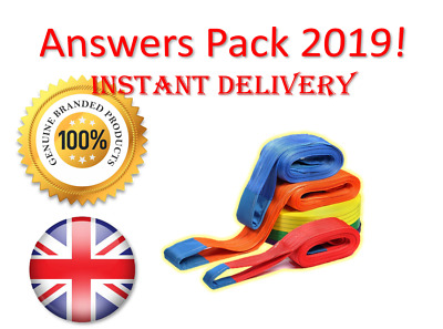 2019 CPCS A40 Slinger Signaller Theory Test Answers | BOOK + PDF