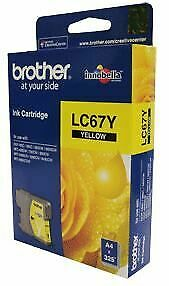 Brother LC-67Y Yellow Ink Cartridge