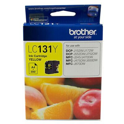 Brother LC-131Y Yellow Ink Cartridge