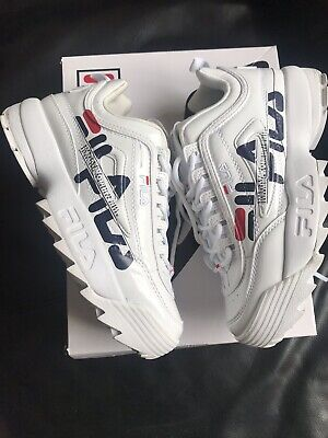 FILA Disruptor 2 II HTA1071X_WWT Authentic White Unisex Womens Shoes Sneakers