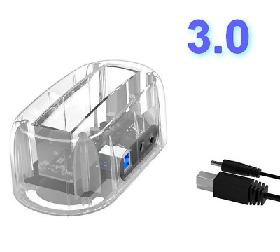 "Docking Station Per Hard Disk All In 1 Sata Ide 3,5"" 2,5 Usb3.1  Hdd Box Case"