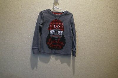 Toddler Boy's Gray Heavy Long Sleeve Graphic T-Shirt By Arizona Size 5T