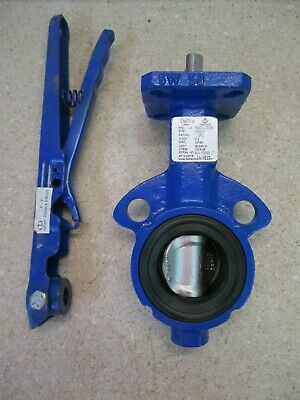 Deltech Delval 2'' Iron Butterfly Valve #618241G New