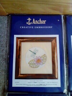 4 Anchor embroidery kits complete with needle and threadnever opened free P&P