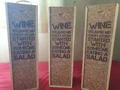 Wholesale Joblot 5 x Wine Boxes With Rope Handles...Brand New Stock...