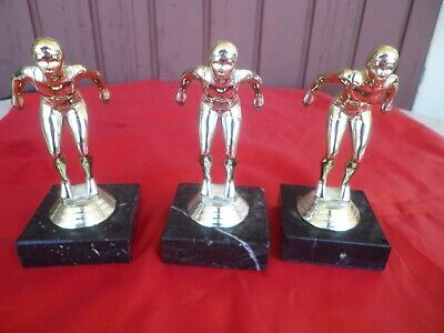 Natation  3 Trophees Miniature Vintage 1982 / Swimming Trophy