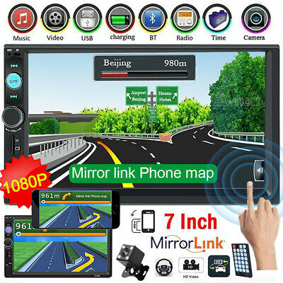 "2 DIN 7"" Car Stereo Radio MP5 FM Player AUX Android/IOS Mirror Link Touch Screen"