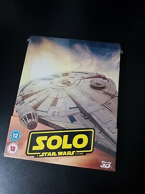 Solo A Star Wars Story Bluray Collectors Steelbook. New And Sealed